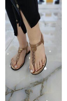 Stocks Shoes Lana Taşlı Parmak Arası Kadın Sandalet Rose