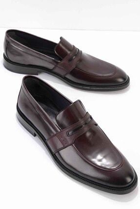 Bambi Bordo Açma Erkek Klasik Ayakkabı E01758202014