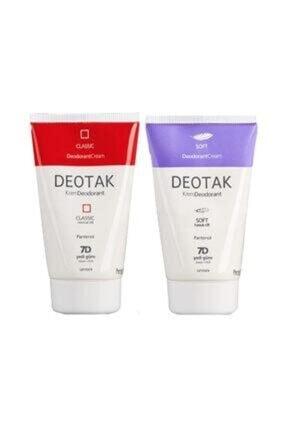 Deotak Klasik+soft Krem Deodorant Set