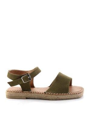 Bambi Kadın Haki Süet Sandalet K056880012