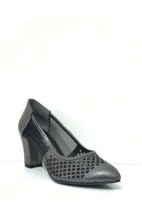 PUNTO Kadın Platin Topuklu Ayakkabı 404001