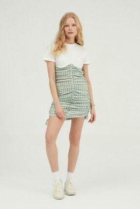 Quzu Desenli Gipeli Mini Elbise