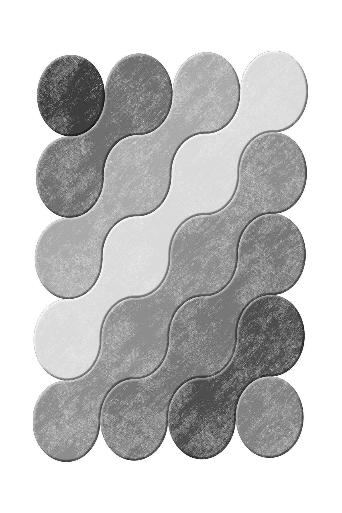 elleser Dekoratif Yıkanabilir Kaymaz Tabanlı Lazer Kesim Halı Kzd-117grı-160x230 2