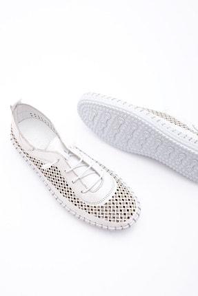 Marjin Kadın Hakiki Deri Comfort Ayakkabı Icrosbeyaz