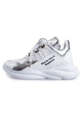 Flower Kadın Beyaz Kombın Logo Yazılı Sneakers