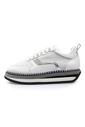 Flower Erkek Beyaz  Bağcıklı Sneaker