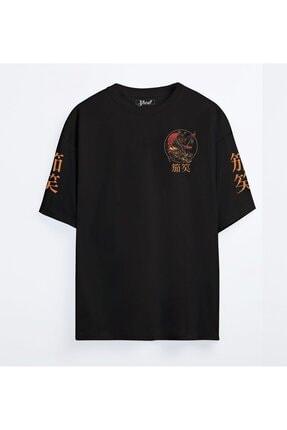 Shout Unisex Siyah Oversize Limited Edition Sekigahara Japan Samurai T-shirt
