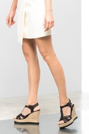 İnci Hakiki Deri Siyah Kadın Dolgu Topuk Ayakkabı 120120507014