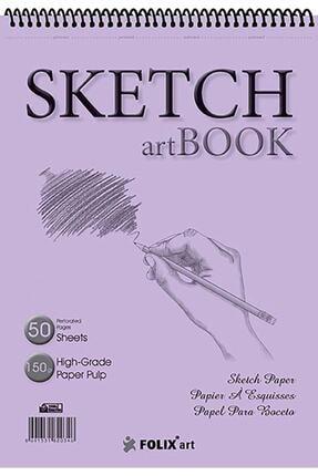 satrik Eskiz Defteri 150 gram A5 50 Yaprak Spiralli Ivory Sketchbook A5 17x24 Cm Sketch Artbook Flx-0803