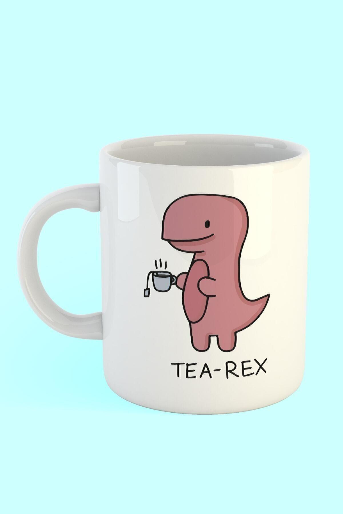 Printhome Tea Rex Baskılı Kahve Kupası 1