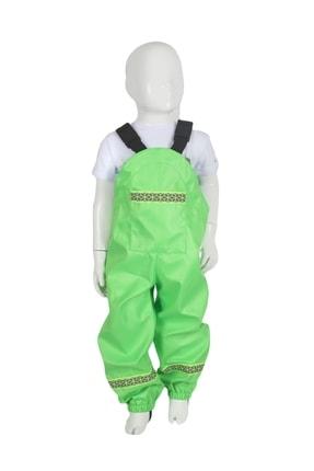 GÖKÇECİK TEKSTİL Unisex Çocuk Fıstık Yeşili Yağmur Tulumu