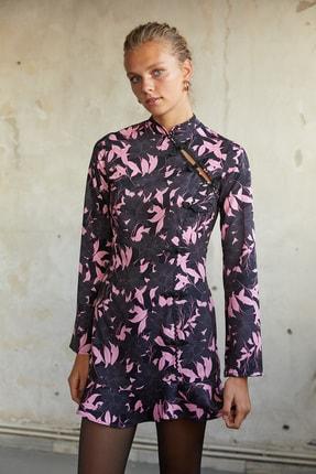 Urban Muse Kadın  Desenli Cheongsam Elbise