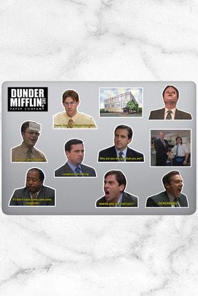 Varonesa The Office Temalı Laptop Notebook Tablet Sticker Seti 12 Adet
