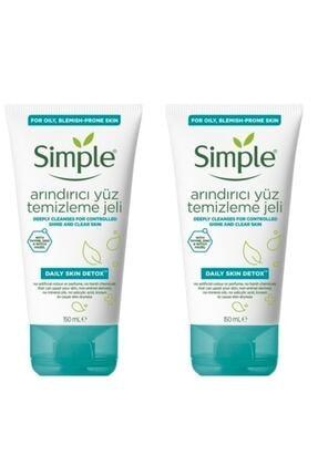 Simple Daily Skin Detox Arındırıcı Yüz Temizleme Jeli Yağlı/karma Cilt 150 Ml X 2