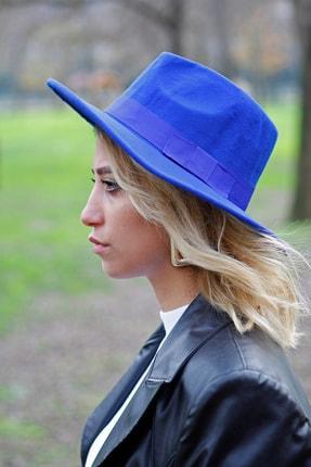 Bay Şapkacı - Kadın Kaşe Fötr Şapka 7173 Saks