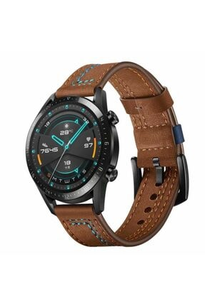 Samsung Galaxy Watch 46mm (22mm) Krd-19 Akıllı Saat Kordonu Deri Kordon Kayış Bileklik
