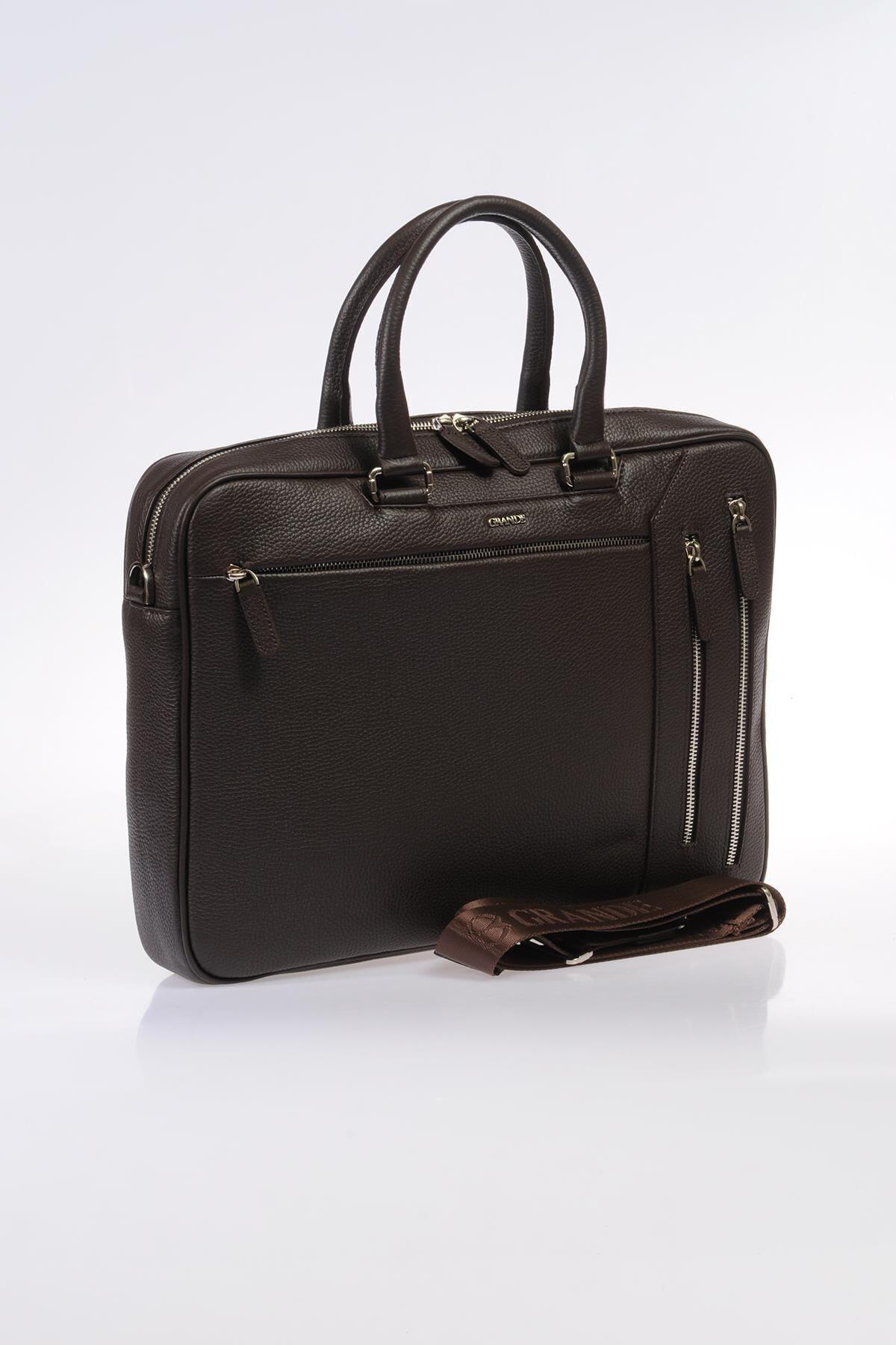 Grande Kahverengi Unisex Laptop & Evrak Çantası 8690027123633 2