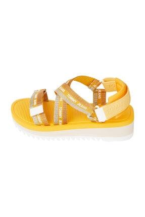 Tommy Hilfiger Kadın Turuncu Sandalet Lurex Webbıng Strappy Sandal EN0EN01325