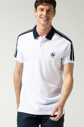 Nautica Erkek Beyaz Slim Fit Polo K15607T