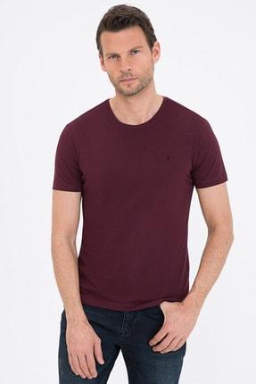 Pierre Cardin Bordo Slim Fit Bisiklet Yaka Basic T-Shirt