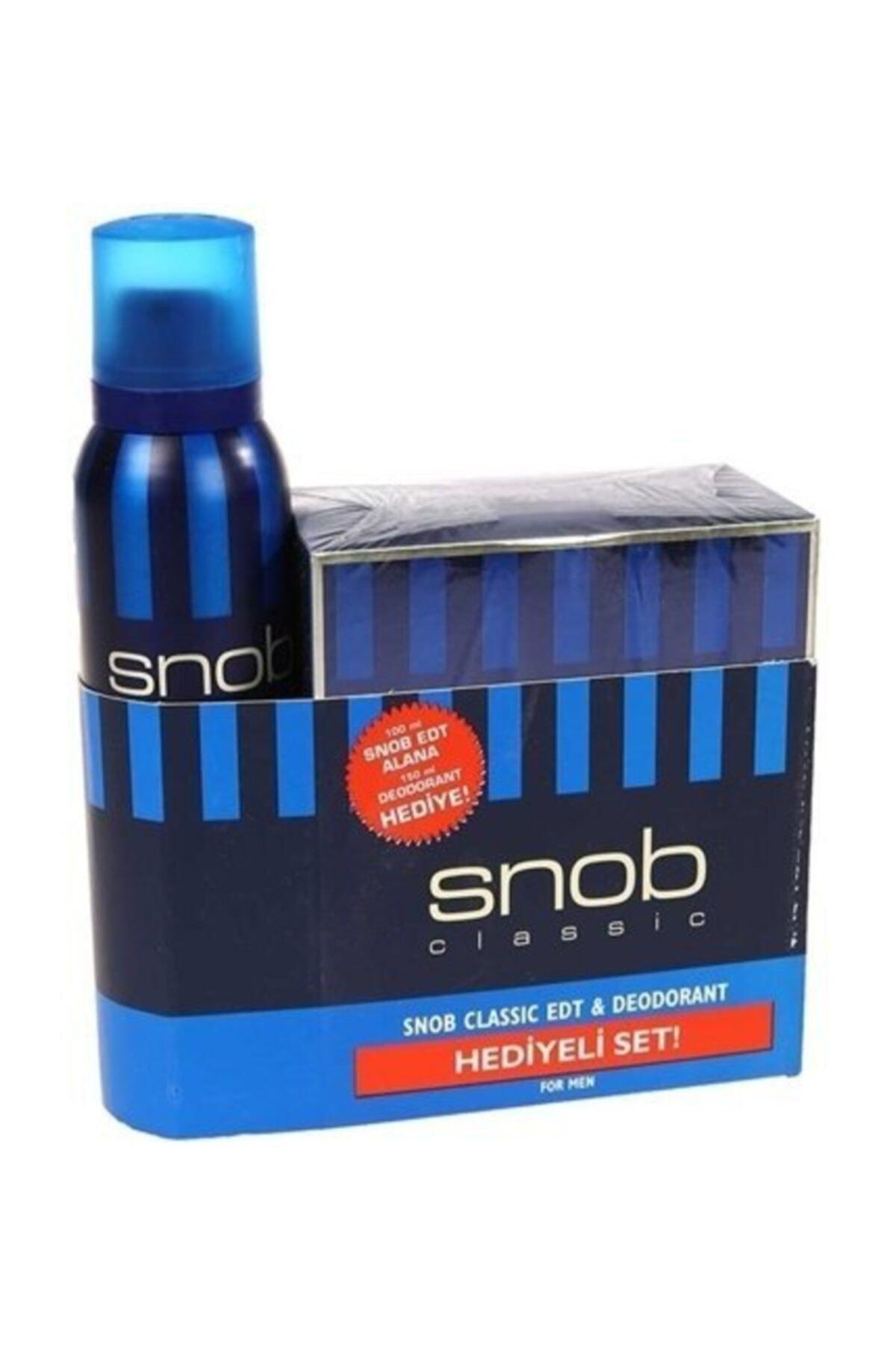 Snob Classıc Edt 100ml Deodorant 150ml  Erkek Parfüm Seti 8690644015717 1