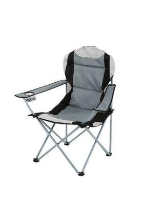 General Home Walke Gri Siyah Xl Katlanır Çantalı Kamp Sandalye