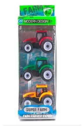 Birlik Oyuncak Oyuncak Kutuda 3 Lü Büyük Traktör (CEKBİRAK)