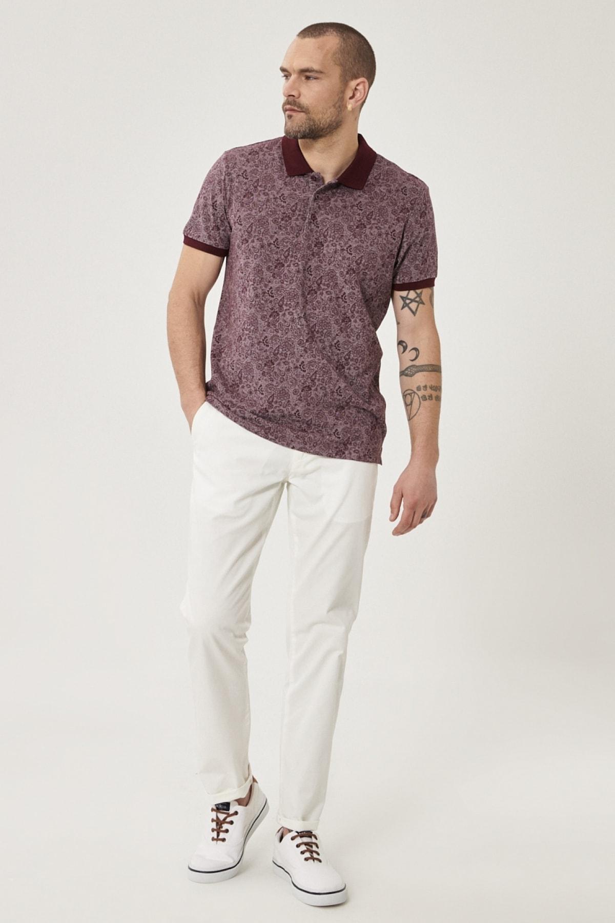 ALTINYILDIZ CLASSICS Erkek Beyaz Kanvas Slim Fit Chino Pantolon 2