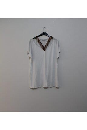TREND Kadın Beyaz Salaş Bluz