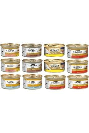 Purina Gourmet Gold Karışık 12 Adet 85 Gr