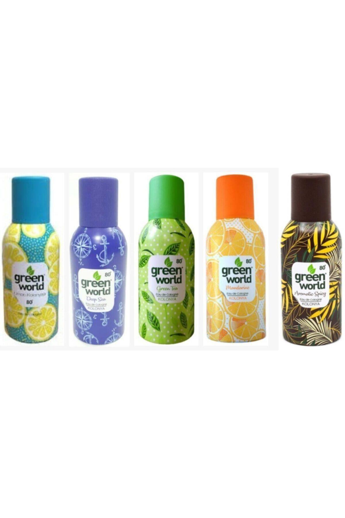 Green World 5li Kolonya Seti(Okyanus-mandalina-spicy-limon-greentea) 1