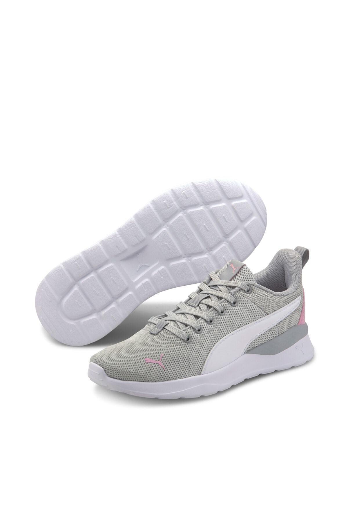 Puma ANZARUN LITE METALLIC JR Gri Kız Çocuk Koşu Ayakkabısı 100660667 1