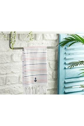 English Home Stripe Anchor Pamuk Kurulama Bezi 40x60 Cm Beyaz