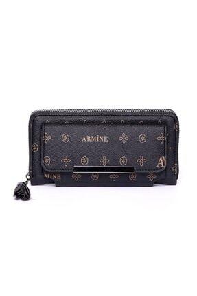Armine C07 Siyah Baskılı Cüzdan
