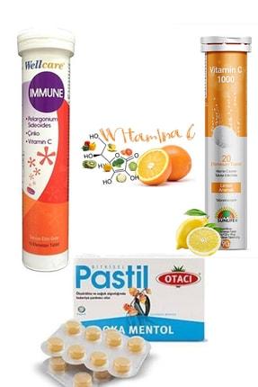 Sunlife Wellcare Immune , C Vitamini Ve Oka Mentol Pastil Avantaj Paketi