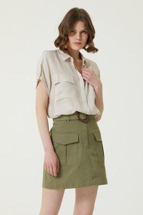 Network Kadın Regular Fit İngiliz Yaka Gömlek 1078916