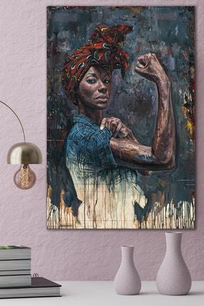 Hediyeler Kapında Strong Woman Kanvas Tablo
