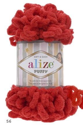 Alize Puffy El Örgü Ipliği 56/kırmızı