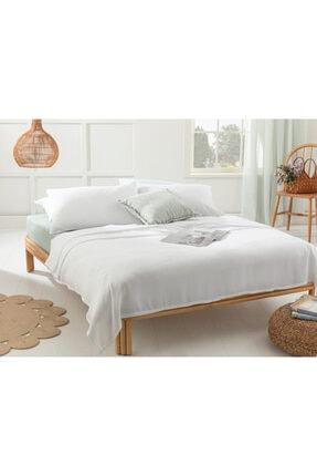 English Home Cool Stripe Soft Touch Çift Kişilik Pike Seti 200x220 Cm Beyaz