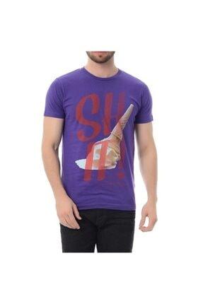 Jack & Jones Erkek Mor Desenli T-Shirt