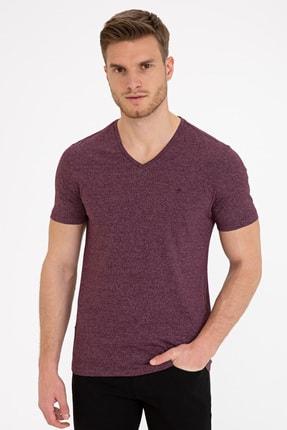 Pierre Cardin Bordo Slim Fit V Yaka T-Shirt