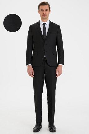 Pierre Cardin Erkek Siyah Ex. Slim Fit Takım Elbise