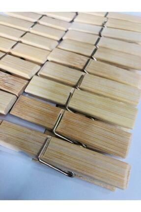 BALSA 40 Adet - Bambu Mandal, Ahşap Mandal, Tahta Mandal - Çamaşır Mandalı