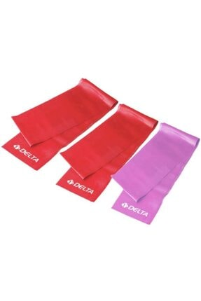 Delta Pilates Bandı  Egzersiz Direnç Lastiği 3 'lü  90 Cm X 7,5 cm