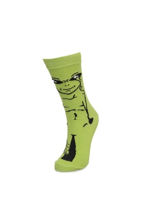 cücü socks Unisex Yeşil Cucu Socks Uzaylı Yeşil Çorap