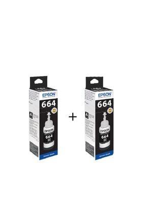EPSON T664 Siyah Mürekkep (2'li) - L382- L365 L565- L3050- L3060