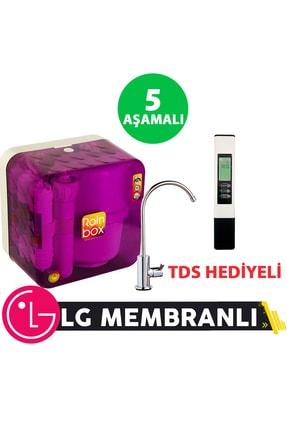 Rainbox 5 Aşamalı Su Arıtma Cihazı (mor) + Tds