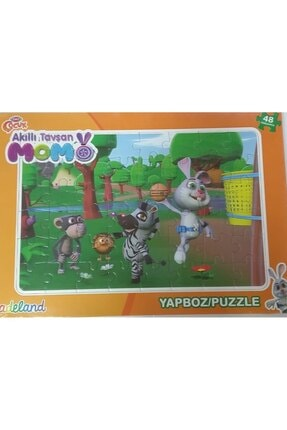 ADELAND Trt Çocuk Akıllı Tavşan Momo 48 Parça Puzzle
