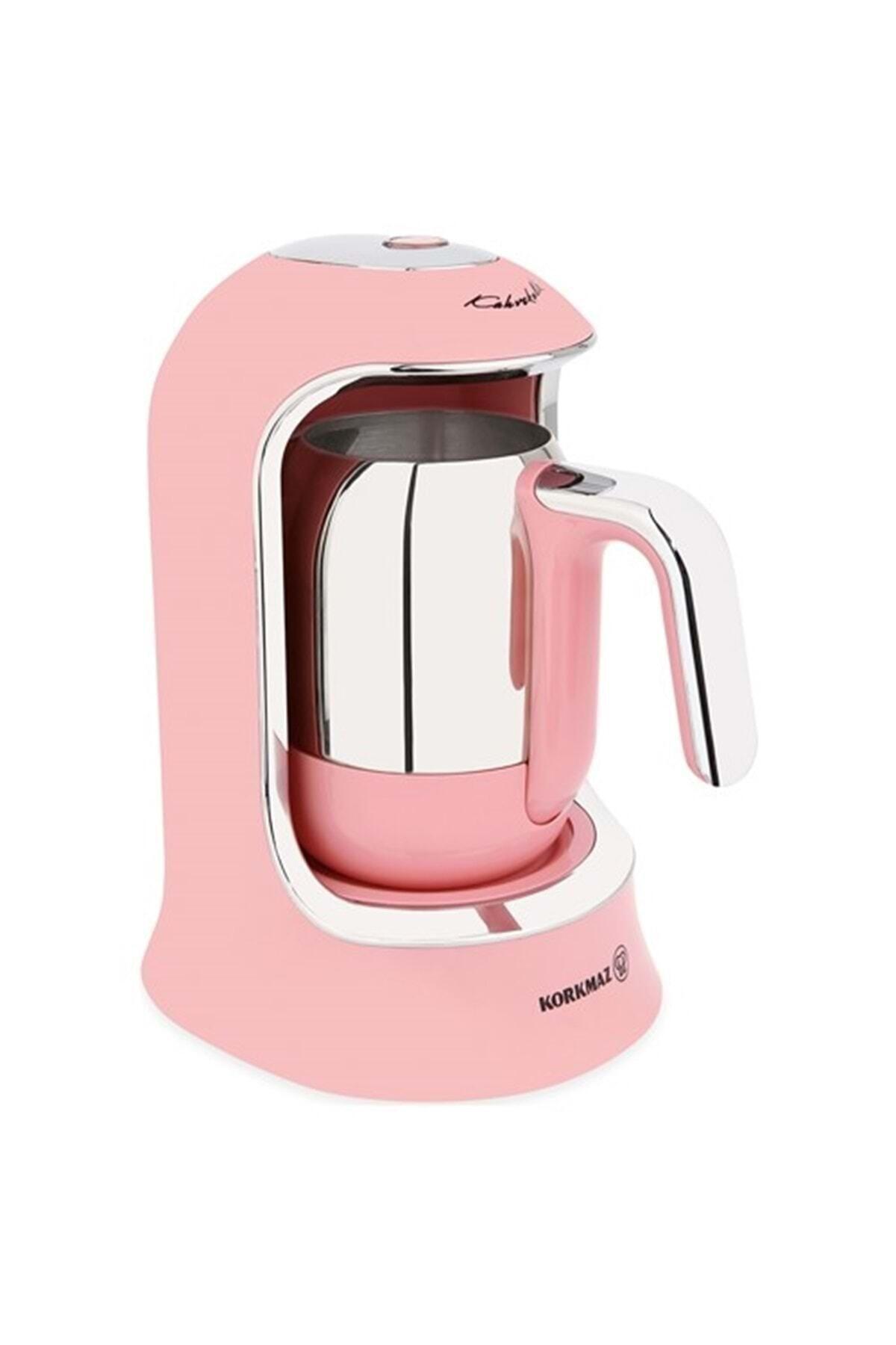 KORKMAZ A860 Kahvekolik Pembe Kahve Makinesi 1