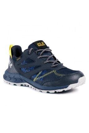 Jack Wolfskin 4042161 Woodland Texapore Low K Dark Blue/yellow Outdoor Ayakkabı